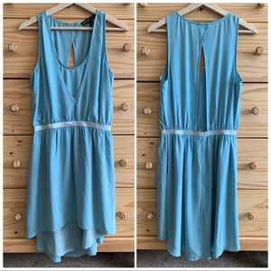 Elizabeth & James Blue High-Low Silk Tank Dress 6